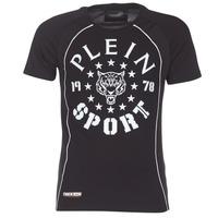Clothing Men short-sleeved t-shirts Philipp Plein Sport LIONEL Black / White