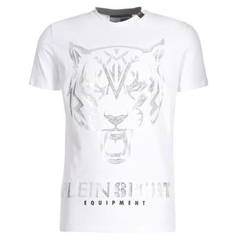Clothing Men short-sleeved t-shirts Philipp Plein Sport EDBERG White / Silver