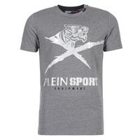 Clothing Men short-sleeved t-shirts Philipp Plein Sport BORIS Grey / Silver