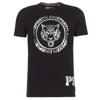 Clothing Men short-sleeved t-shirts Philipp Plein Sport IVAN Black / Silver