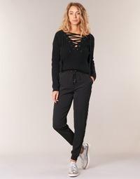 Clothing Women Wide leg / Harem trousers Kaporal SOFI Black