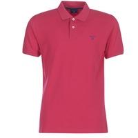 Clothing Men short-sleeved polo shirts Gant CONTRAST COLLAR PIQUE RUGGER Pink
