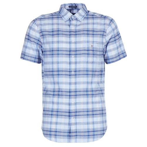 Clothing Men Short-sleeved shirts Gant BLUE PACK MADRAS REG Blue