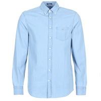 Clothing Men long-sleeved shirts Gant THE INDIGO REG Blue