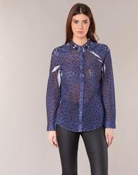 Clothing Women Shirts Guess BORICE Blue