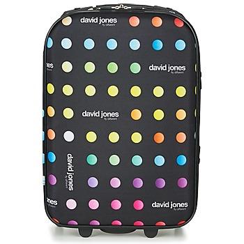Bags Soft Suitcases David Jones PICOLO 35L Black / Multicoloured