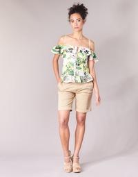 Clothing Women Shorts / Bermudas Guess BENARIO Beige