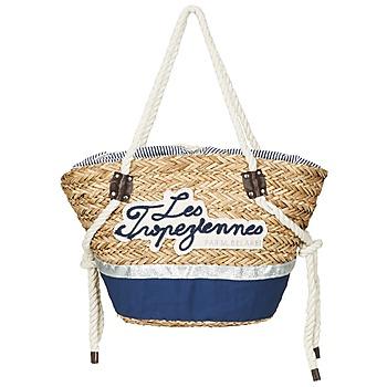 Bags Women Shopping Bags / Baskets Les Tropéziennes par M Belarbi AUDENGE Beige / Marine