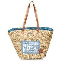 Bags Women Shopping Bags / Baskets Les Tropéziennes par M Belarbi AGAY Beige / Blue