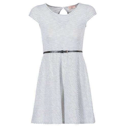 Clothing Women Short Dresses Moony Mood IKIMI White / Marine