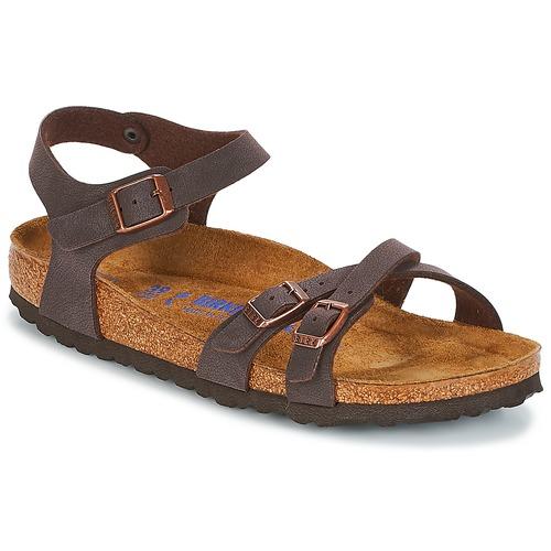 Shoes Women Sandals Birkenstock KUMBA SFB Brown