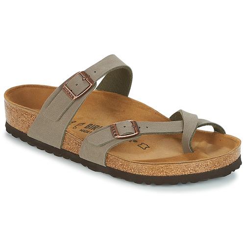 Shoes Women Flip flops Birkenstock MAYARI Grey