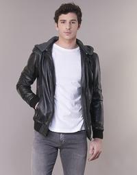 Clothing Men Leather jackets / Imitation leather Oakwood JIMMY Black