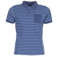 Clothing Men Short-sleeved polo shirts Casual Attitude INUTIOLE Blue / White