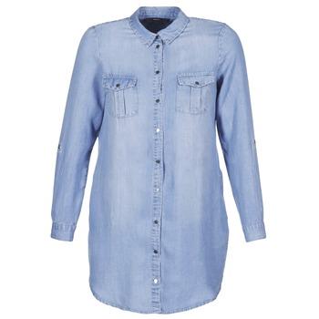 Clothing Women Short Dresses Vero Moda VMSILLA Blue / Clear