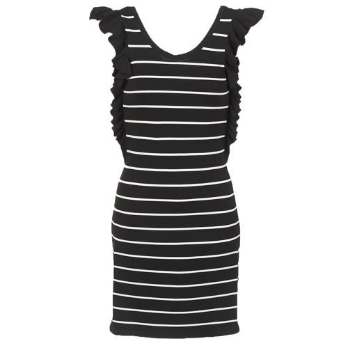Clothing Women Short Dresses Vero Moda VMABHY Black / White