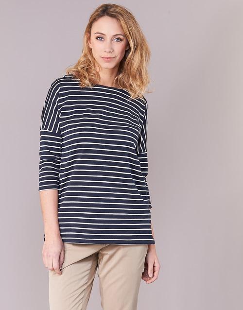 Clothing Women sweaters Vero Moda VMULA Marine / White