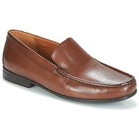 Shoes Men Loafers Clarks CLAUDE PLAIN Brown / Leather