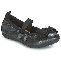 Shoes Girl Flat shoes Geox J PIUMA BALLERINES Black