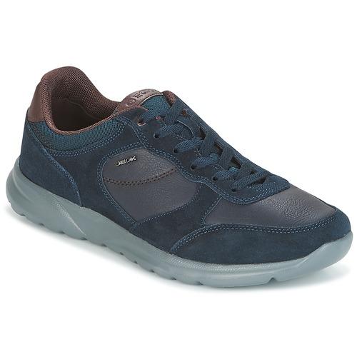 Shoes Men Low top trainers Geox U DAMIAN Blue