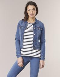 Clothing Women Denim jackets Noisy May NMDEBRA Blue / Medium
