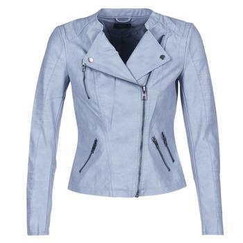 Clothing Women Leather jackets / Imitation leather Only AVA Blue