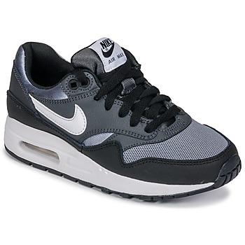 Shoes Boy Low top trainers Nike AIR MAX 1 GRADE SCHOOL Black / Grey