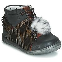 Shoes Girl Hi top trainers Catimini PEPITA Black / Coppery