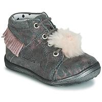 Shoes Girl Hi top trainers Catimini PEPITA Grey / Pink