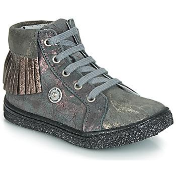 Shoes Girl Hi top trainers Catimini LOULOU Grey / Pink
