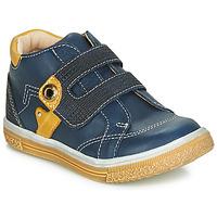 Shoes Boy Hi top trainers Catimini BICHOU Marine / Mustard