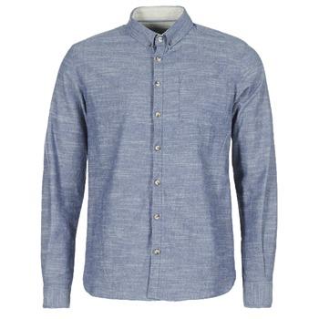 Clothing Men Long-sleeved shirts Casual Attitude IPODRUM Blue
