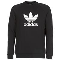 Clothing Men sweaters adidas Originals TREFOIL CREW Black