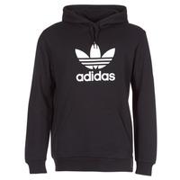 Clothing Men sweaters adidas Originals TREFOIL HOODIE Black