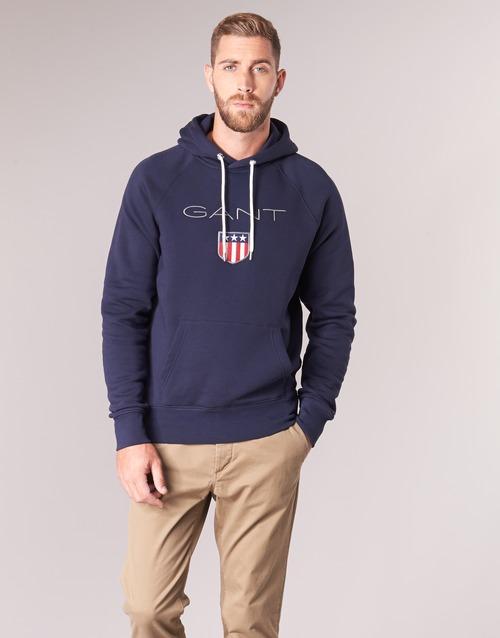 Clothing Men sweaters Gant GANT SHIELD SWEAT HOODIE Marine
