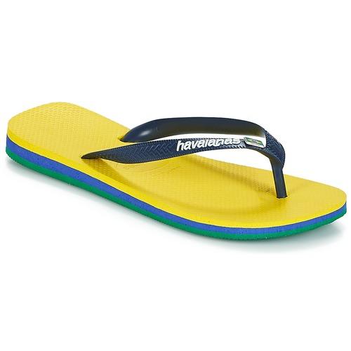 Shoes Flip flops Havaianas BRASIL LAYERS Yellow