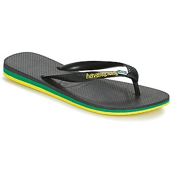 Shoes Men Flip flops Havaianas Brasil Layers Black