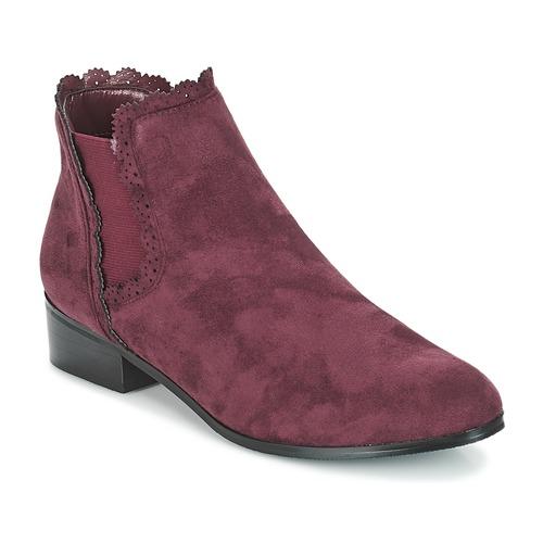 Shoes Women Mid boots Moony Mood JERMA Aubergine