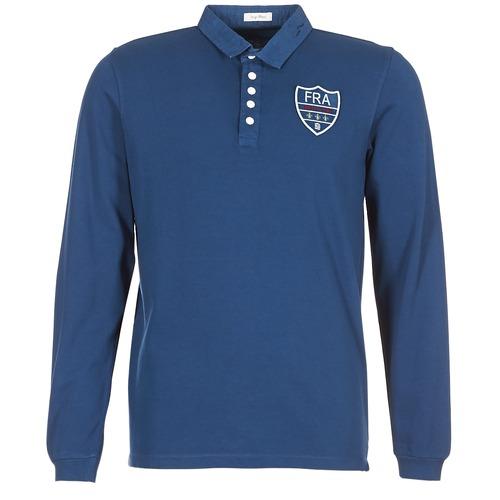 Clothing Men Long-sleeved polo shirts Serge Blanco POLO France Blue