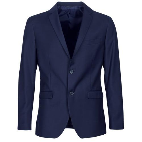 Clothing Men Jackets / Blazers Sisley FASERTY Marine