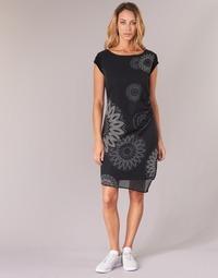 Clothing Women Short Dresses Desigual SANDRINI Black