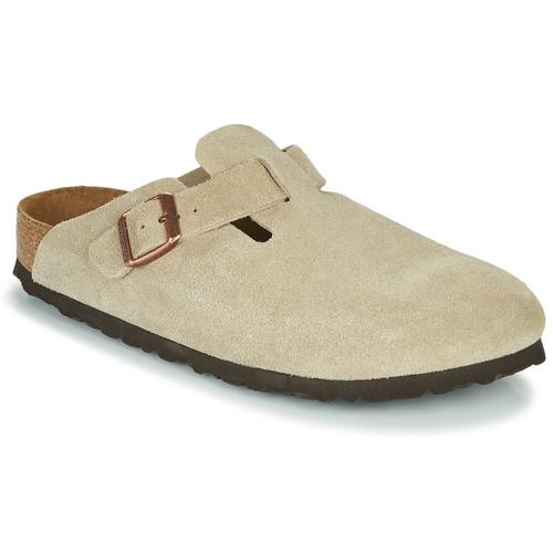 Shoes Women Clogs Birkenstock BOSTON SFB Taupe