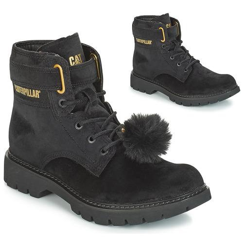 Shoes Women Ankle boots Caterpillar CONVERSION VELVET  black