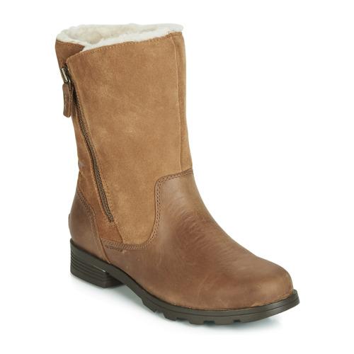 Shoes Women Mid boots Sorel EMELIE FOLDOVER Camel
