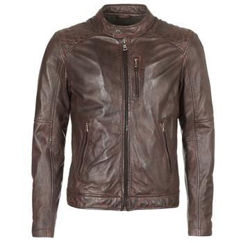 Clothing Men Leather jackets / Imitation leather Oakwood AGENCY Brown