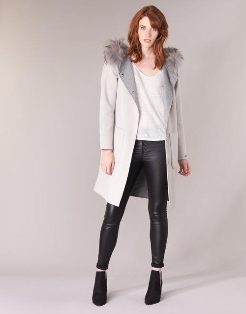 Clothing Women coats Oakwood YALE BI Beige / Grey