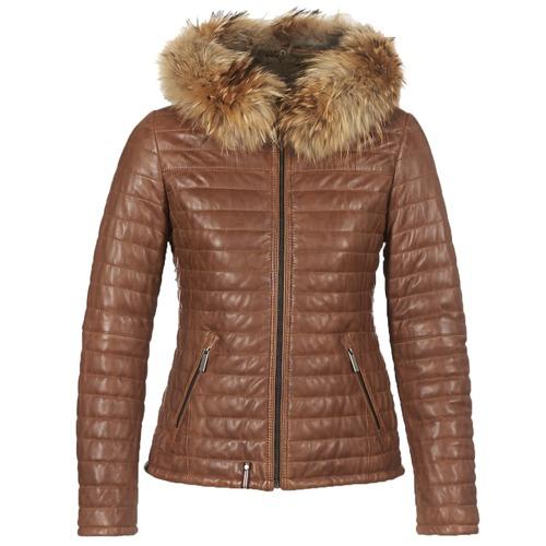 Clothing Women Duffel coats Oakwood HAPPY Cognac
