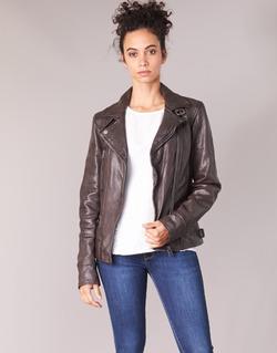 Clothing Women Leather jackets / Imitation leather Oakwood VIDEO Brown