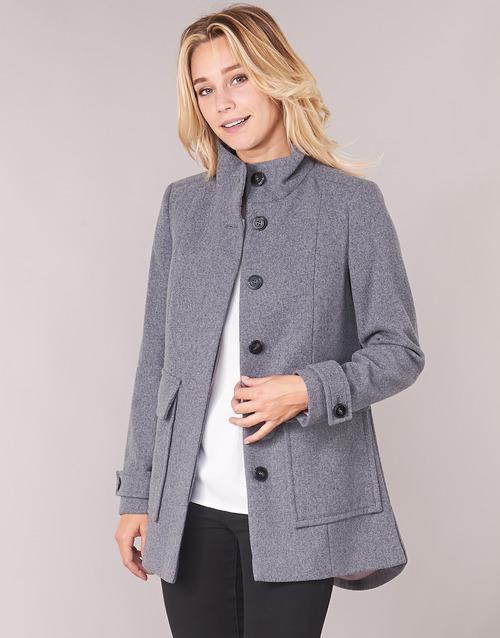 Clothing Women coats Benetton MARTINO Grey