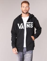 Clothing Men sweaters Vans VANS CLASSIC ZIP HOODIE Black